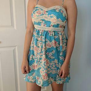 Blue floral trixxi summer dress